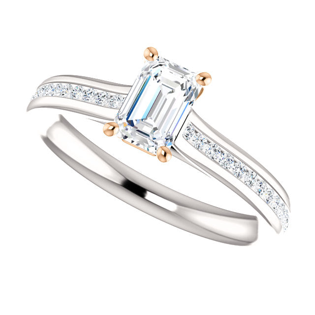 ring products engagement jewellery emerald cut unforgettable diamond