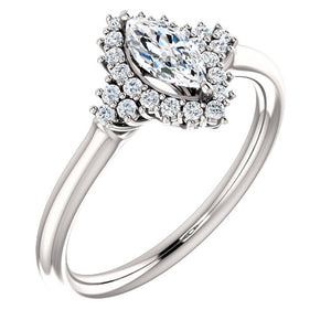 Moores Custom Made Marquise Cut Diamond Engagement Ring