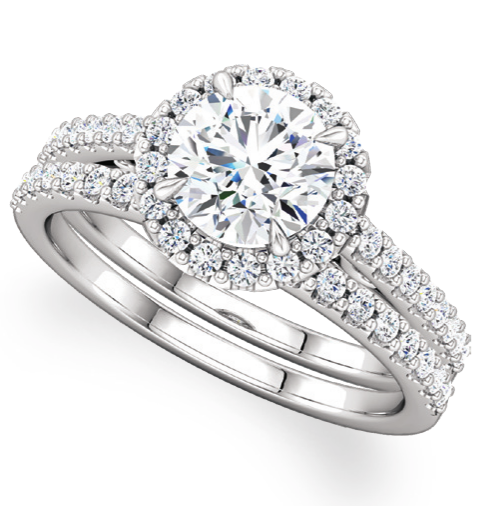 Moores Engagement and Wedding Ring Set