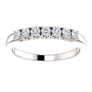Custom Made Seven Stone Diamond Eternity Ring by Moores