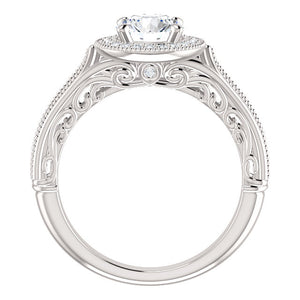 Vintage-Inspired Halo-Style Engagement Ring by Moores