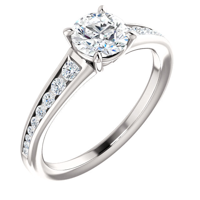 Moores Custom Made Diamond Solitaire Engagement Ring