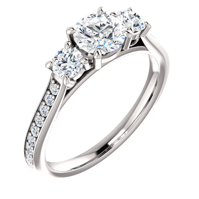 Bespoke Three Stone Diamond Engagement Ring By Moores