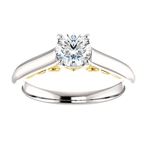 Moores Custom Made Solitaire Diamond Engagement Ring