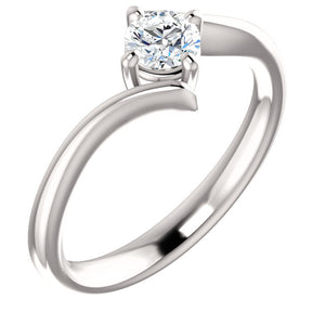 Moores Custom Made Solitaire Diamond Engagement Ring With A Twist