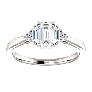 Emerald cut Diamond Engagement Ring Custom Made by Moores