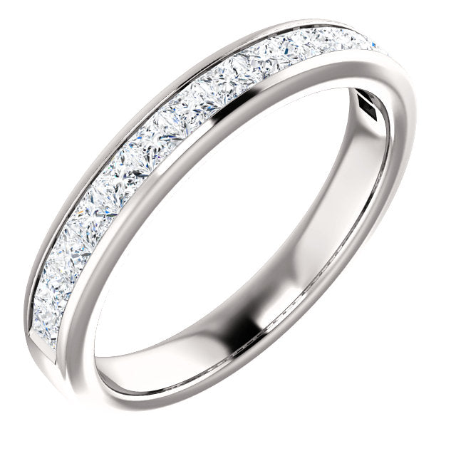 Moores Custom Made Princess Cut Eternity Ring
