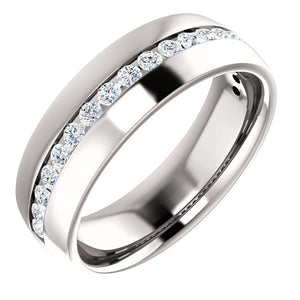 Moores Custom Made Diamond Set Wedding Ring