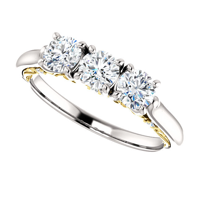 setting three diamond product ring stone classic