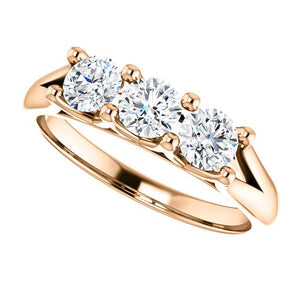 Beautiful Platinum/Gold Three Stone Diamond Ring by Moores