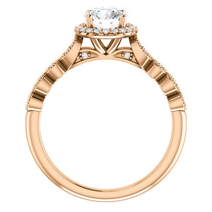 18ct. Yellow Gold & Diamond Halo Ring by Moores