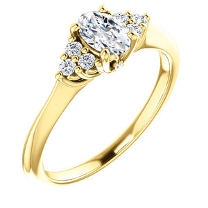 Bespoke Diamond Ring with Oval Cut Diamond Custom Made by Moores