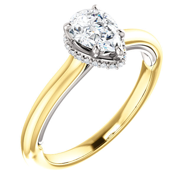 Moores Custom Made Pear Shaped Diamond Solitaire Ring