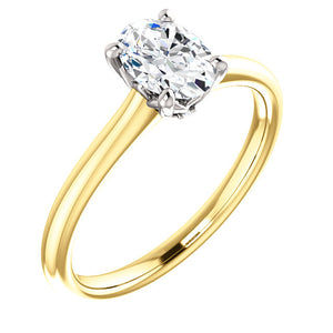 Moores Custom Made Oval Cut Diamond Solitaire Engagement Ring