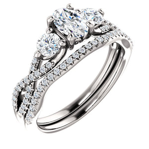 Moores Custom Made Three Stone Engagement Ring