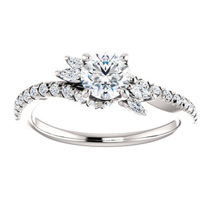 Bespoke Diamond Engagement Ring with a Twist by Moores