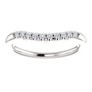 Moores Shaped Custom Made Wedding/Eternity Ring