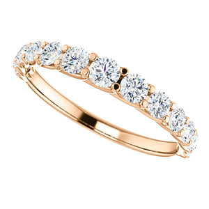 Custom Made Graduated Diamond Eternity/Wedding Ring by Moores