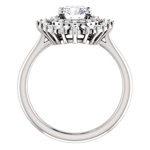Moores Custom Made Diamond Cluster Style Engagement Ring