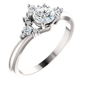 Beautiful Platinum/Gold & Diamond Accented Engagement Ring by Moores