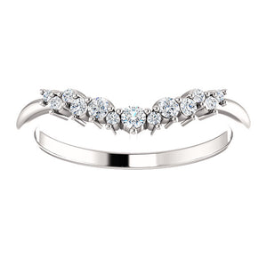 Moores Custom Made Contoured/Wishbone Diamond Wedding/Eternity Ring