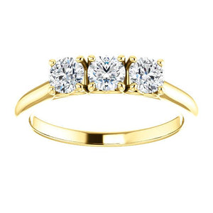 Platinum/Gold & Diamond Three Stone Ring by Moores