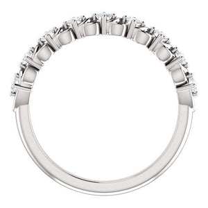 Beautiful Knot-Work Style Platinum & Diamond Eternity Ring by Moores