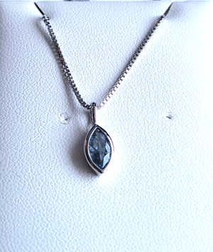 Aquamarine (March) Birthstone Sterling Silver Pendant