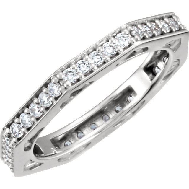 Moores Custom Made Angular Eternity Ring