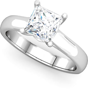 Moores Custom Made Princess Cut Solitaire Engagement Ring