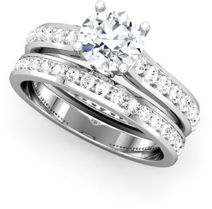 Moores Custom Made Platinum & Diamond Engagement & Wedding Rings