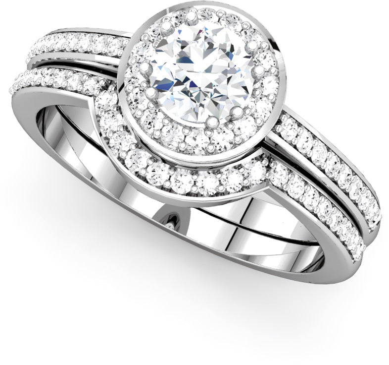 Moores Custom Made Engagement & Wedding Ring Set