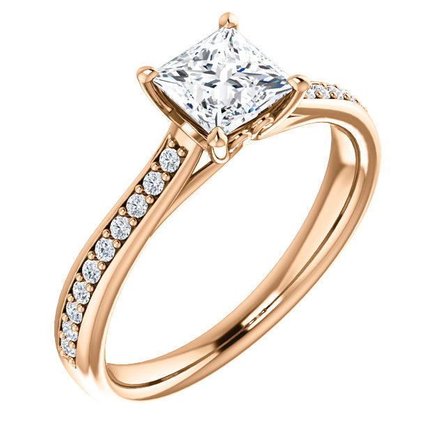 diamond three diamo qrtr gold rings k princess split shank ring cut white natalie engagement halo