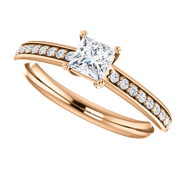 princess solitaire cut diamond engagement platinum gia white chester ring gold rings certified