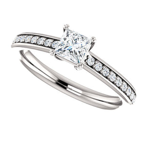 Moores Custom Made Princess Cut Diamond Engagement Ring