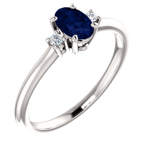 Moores Custom Made Sapphire & Diamond Ring