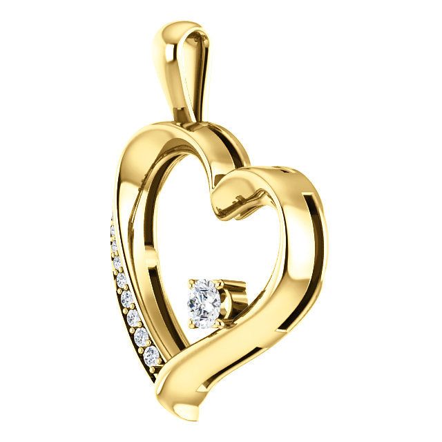 Moores custom made heart shaped diamond pendant moores jewellers moores custom made heart shaped diamond pendant aloadofball Images