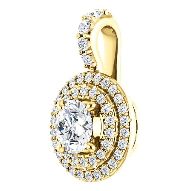 Moores custom made double halo diamond pendant moores jewellers moores custom made double halo diamond pendant aloadofball
