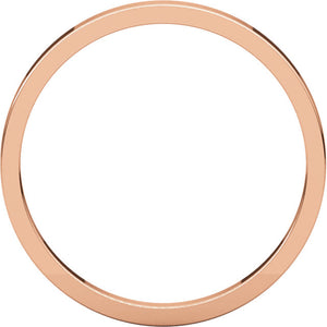 Moores Flat 2mm Wide Wedding Ring