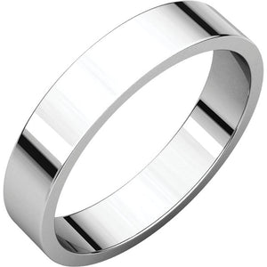 Moores Flat 4mm Wide Wedding Ring