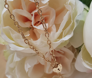 Ladies 9ct. Yellow Gold Traditional Charm Bracelet with Heart Shaped Padlock