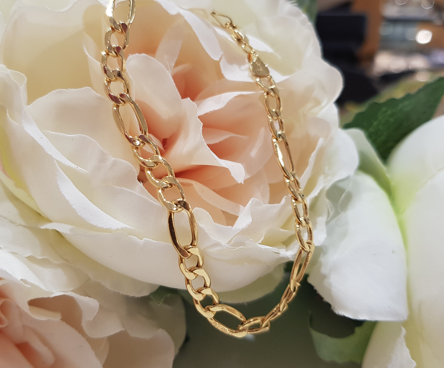 9ct. Yellow Gold Figaro Bracelet