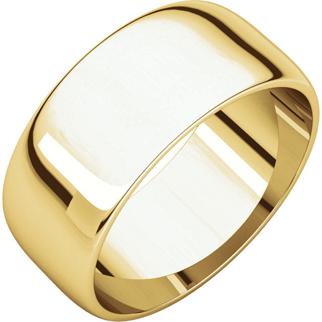 Moores Light Half Round 8mm Wide Wedding Ring