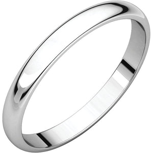 Moores Light Half Round 2.5mm Wedding Ring