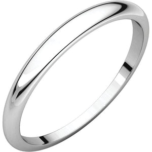 Moores Half Round Tapered 2.5mm Wide Wedding Ring