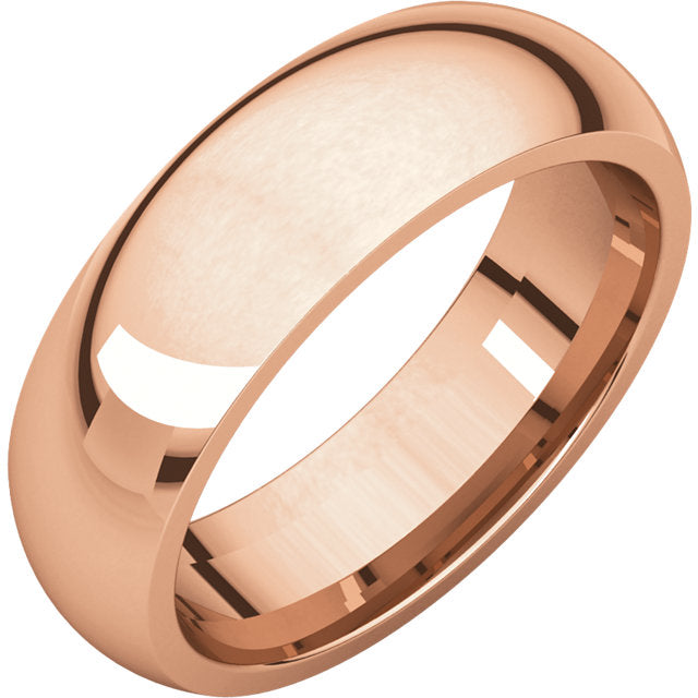 Moores Comfort Fit 6mm Wide Wedding Ring