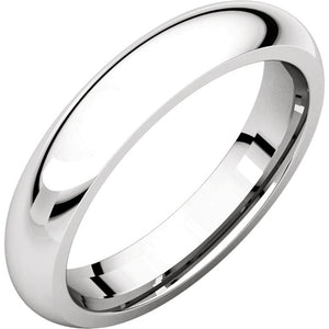 Moores Comfort Fit 4mm Wide Wedding Ring