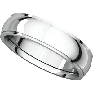 Moores Comfort Fit Edge 5mm Wide Wedding Ring