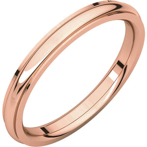Moores Comfort Fit Edge 2.5mm Wide Wedding Ring