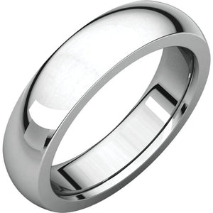 Moores Heavy Comfort Fit 5mm Wide Wedding Ring